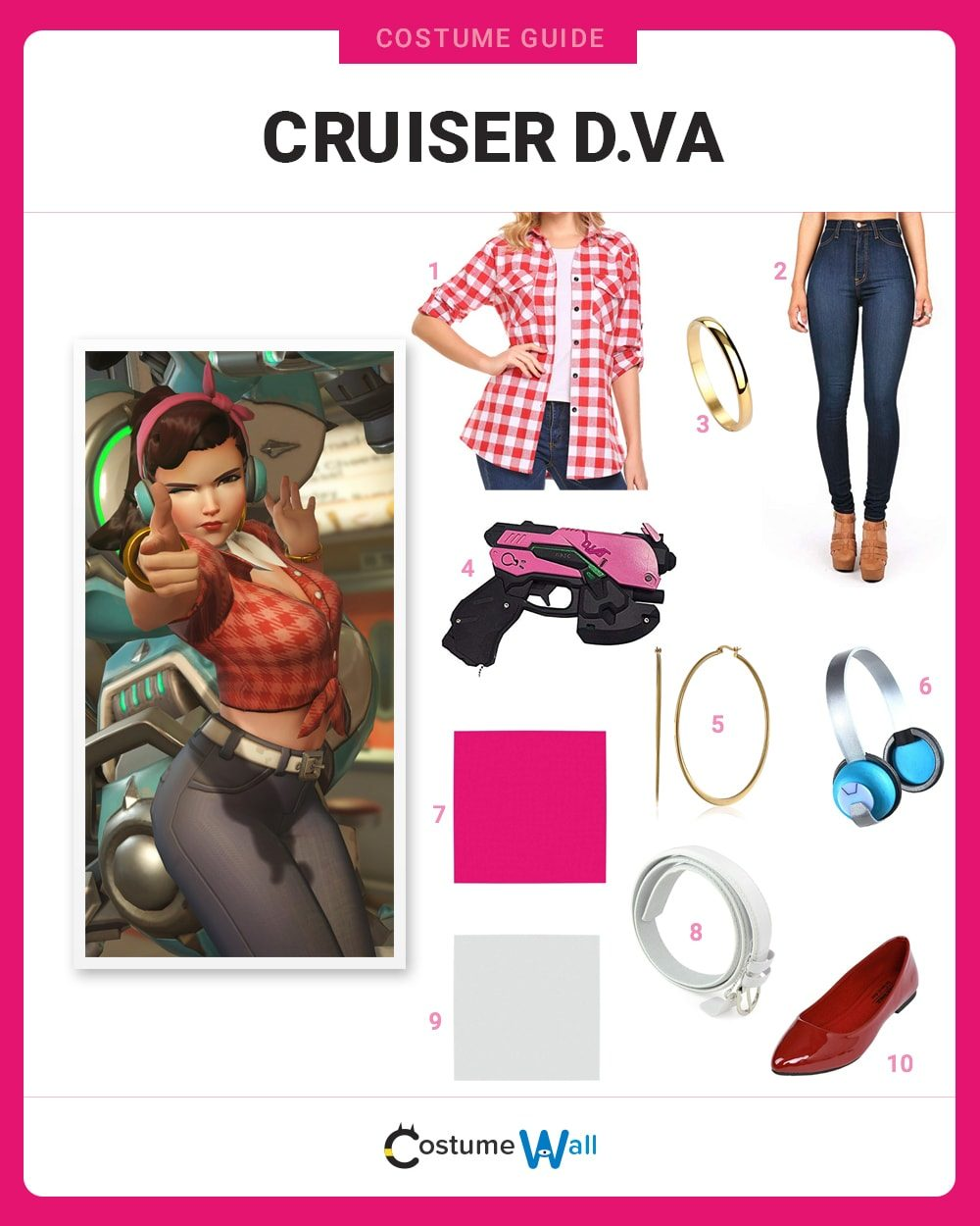 Cruiser D.Va Costume Guide
