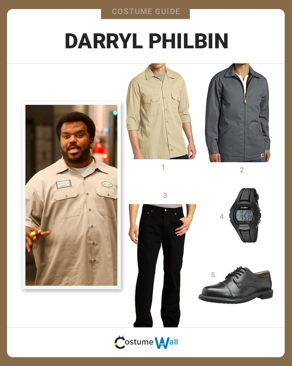 Darryl Philbin Costume Guide