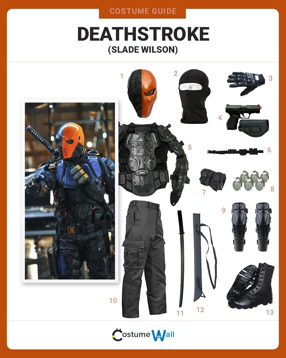 Deathstroke Costume Guide