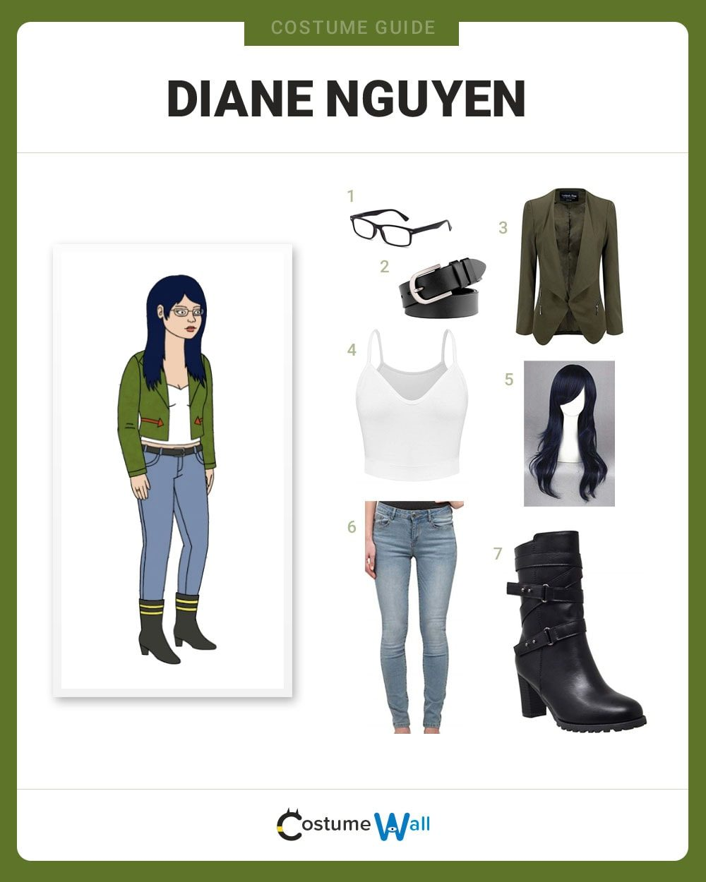 Diane Nguyen Costume Guide