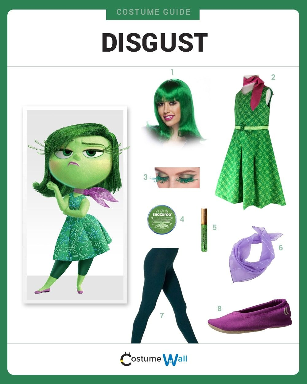 Disgust Costume Guide