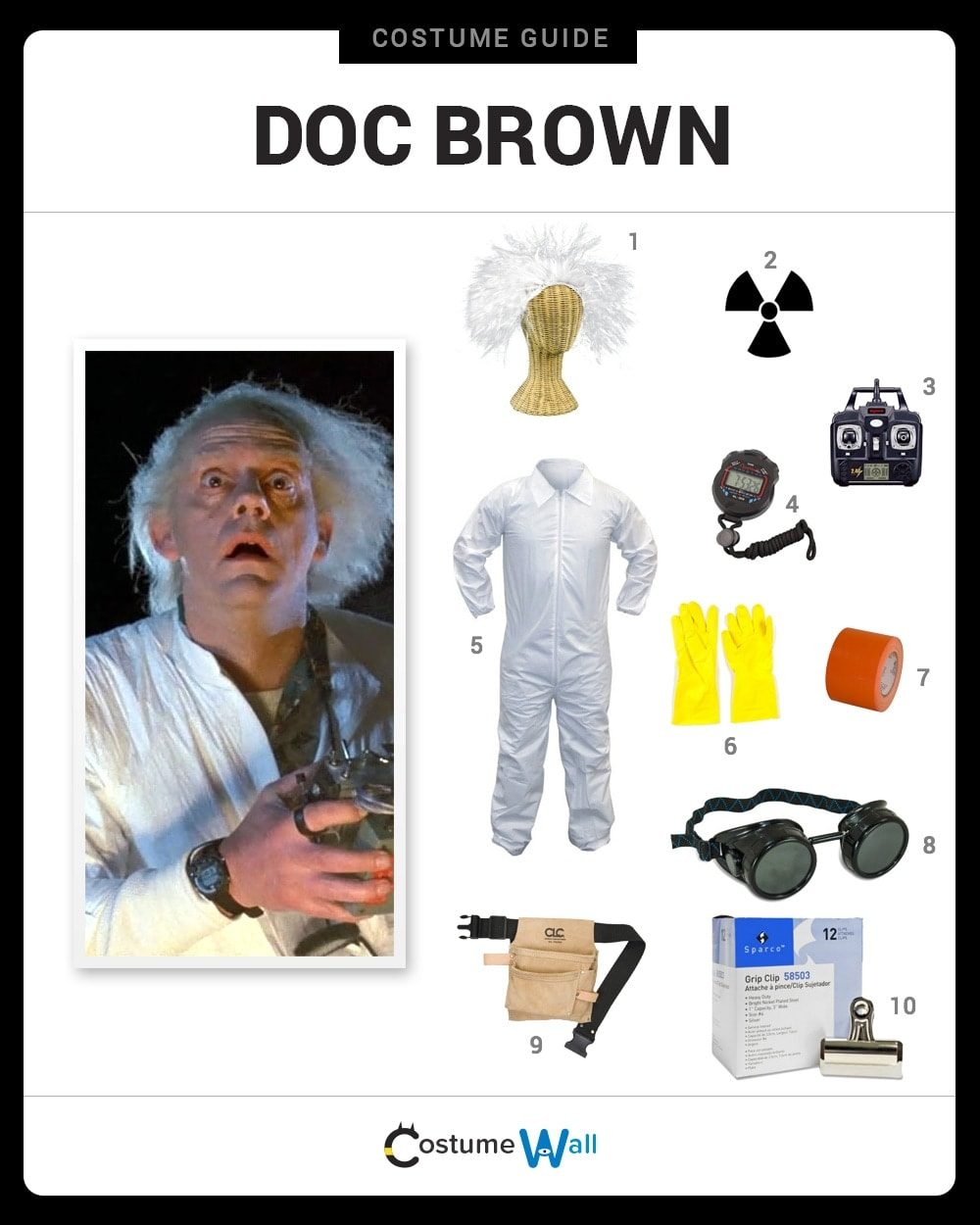 Célèbre Dress Like Doc Brown Costume | Halloween and Cosplay Guides PY19