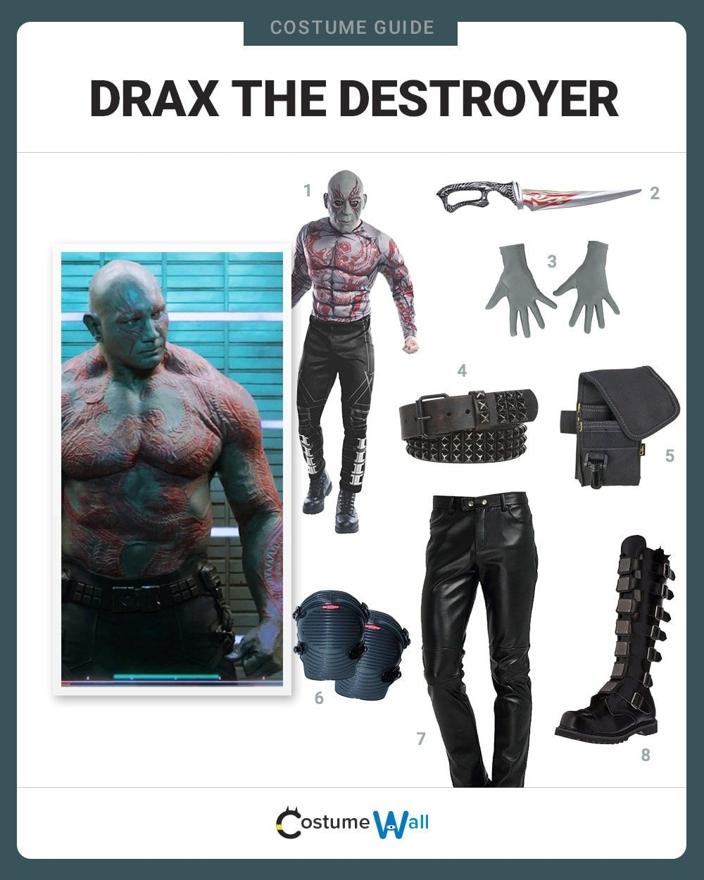Drax the Destroyer Costume Guide