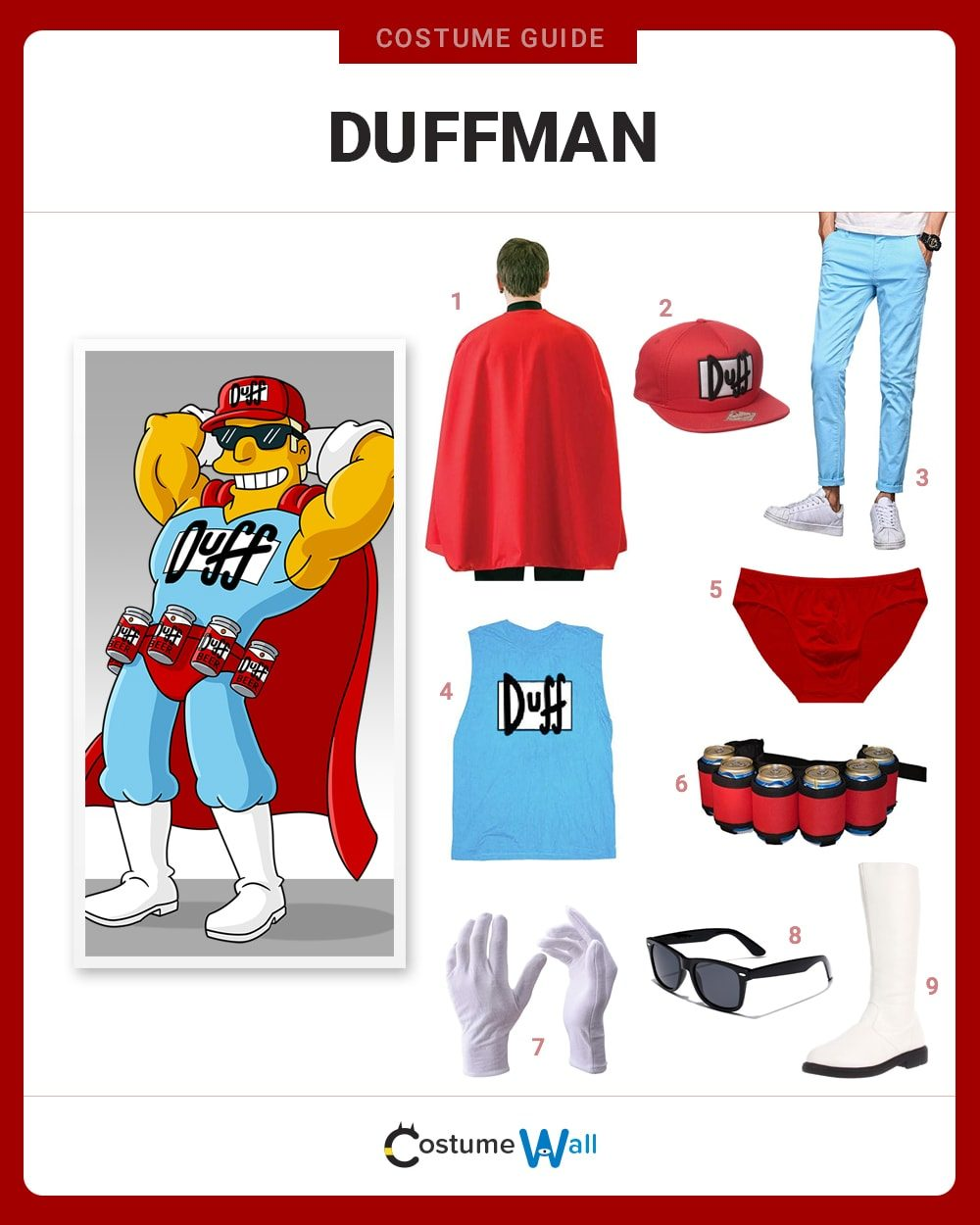 Duffman Costume Guide