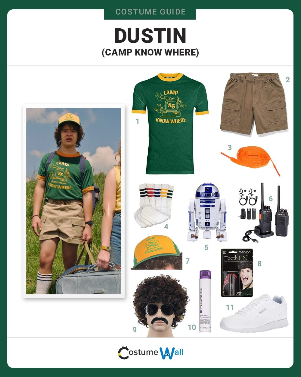 Dustin (Camp Know Where) Costume Guide