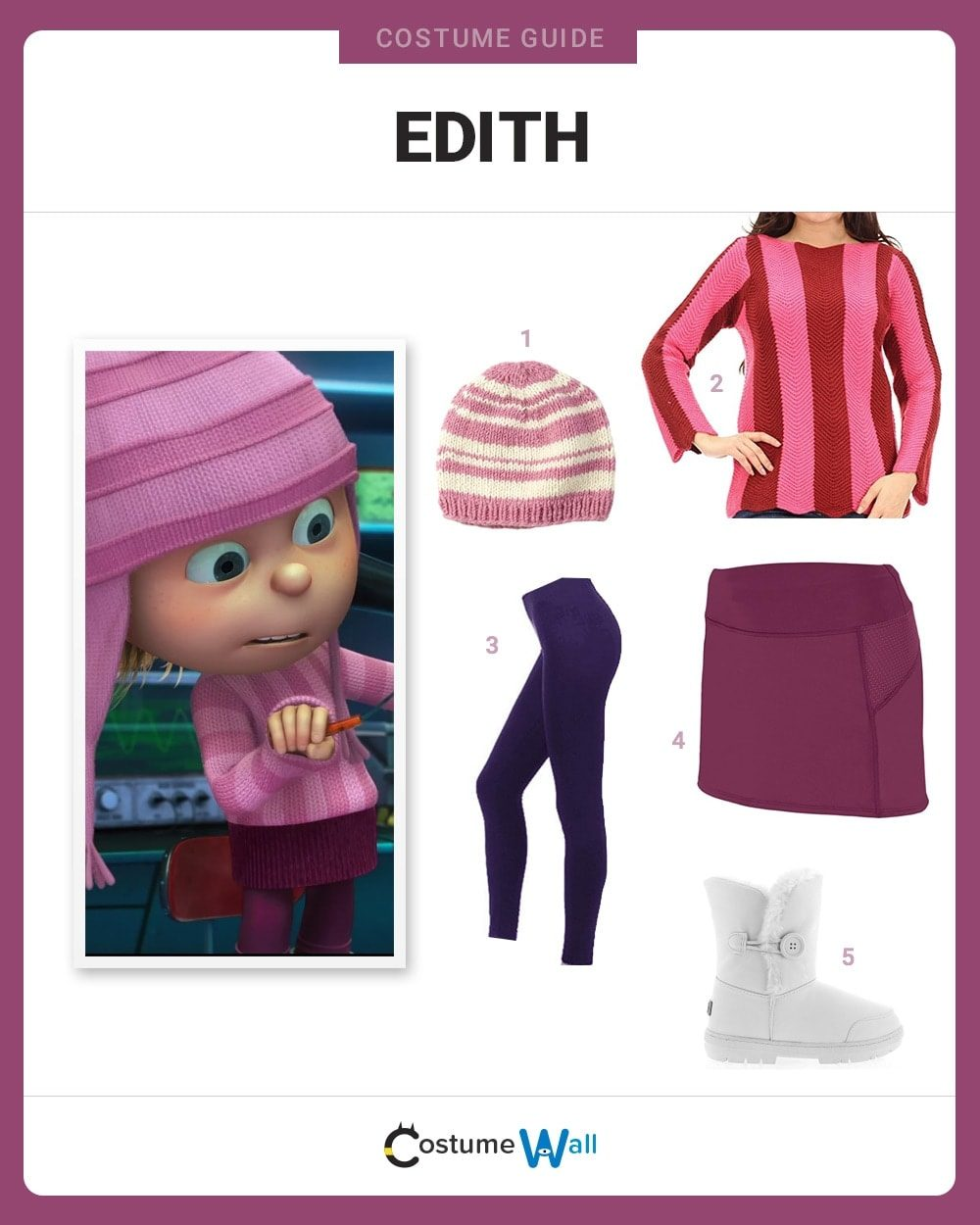 Costume Breakdown  sc 1 st  Costume Wall & Dress Like Edith Gru Costume | Halloween and Cosplay Guides