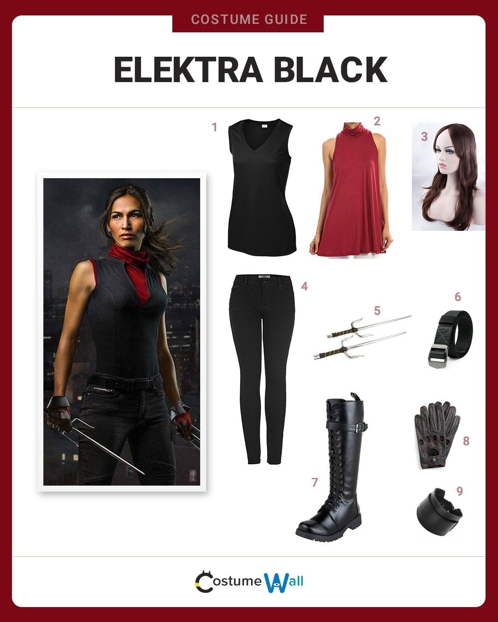 Elektra Black Costume Guide