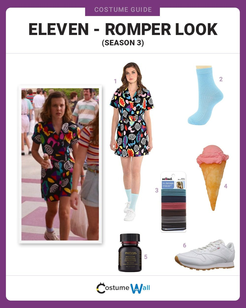 Eleven (Romper Look) Costume Guide