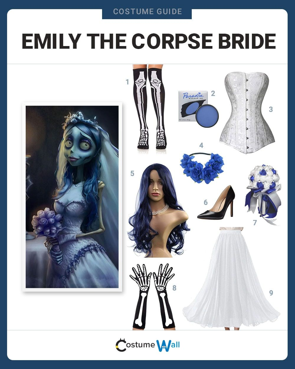 Emily The Corpse Bride Costume Guide