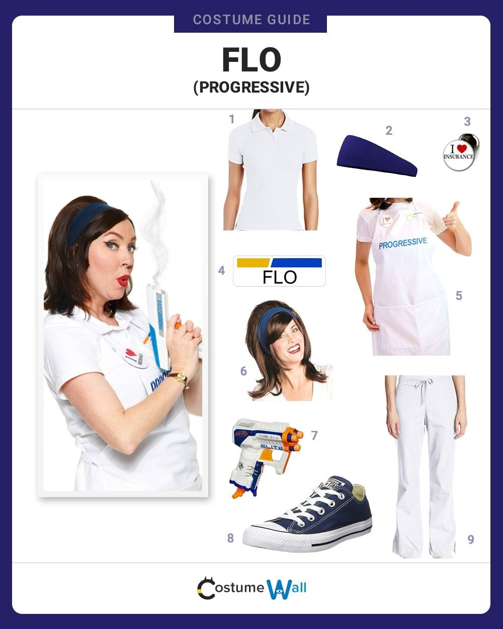 dress like flo costume | halloween and cosplay guides