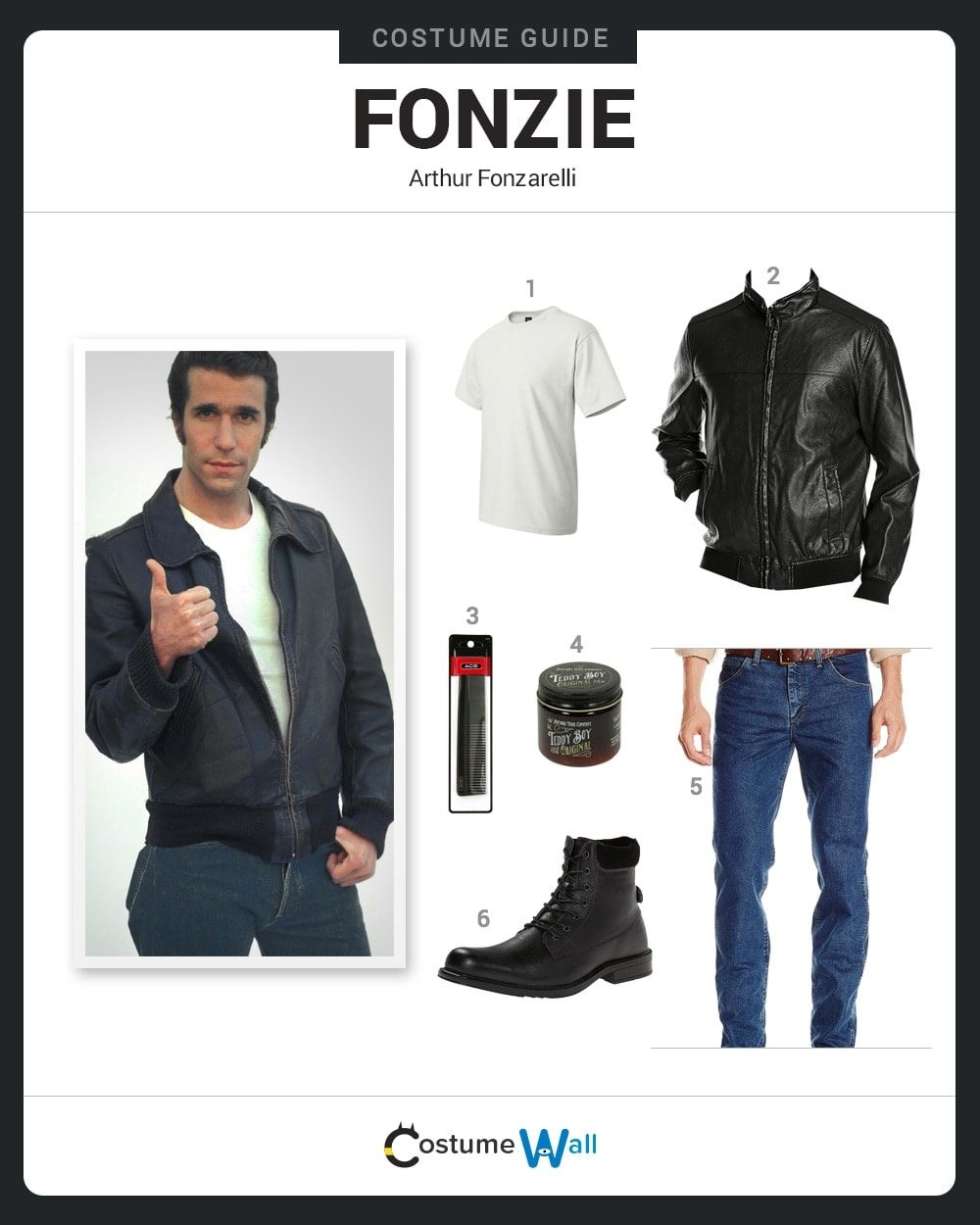 dress like fonzie costume halloween and cosplay guides