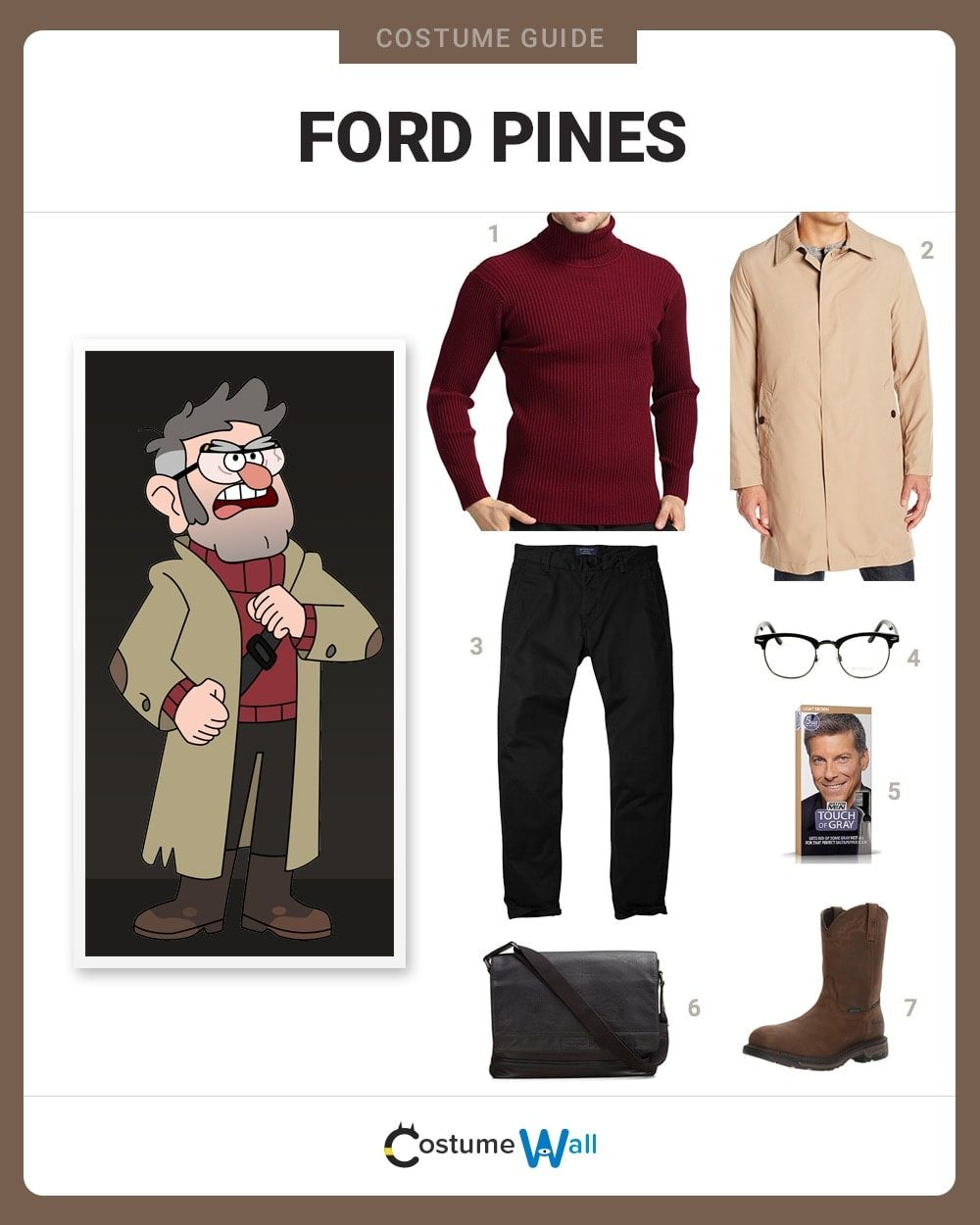 ford pines costume guide