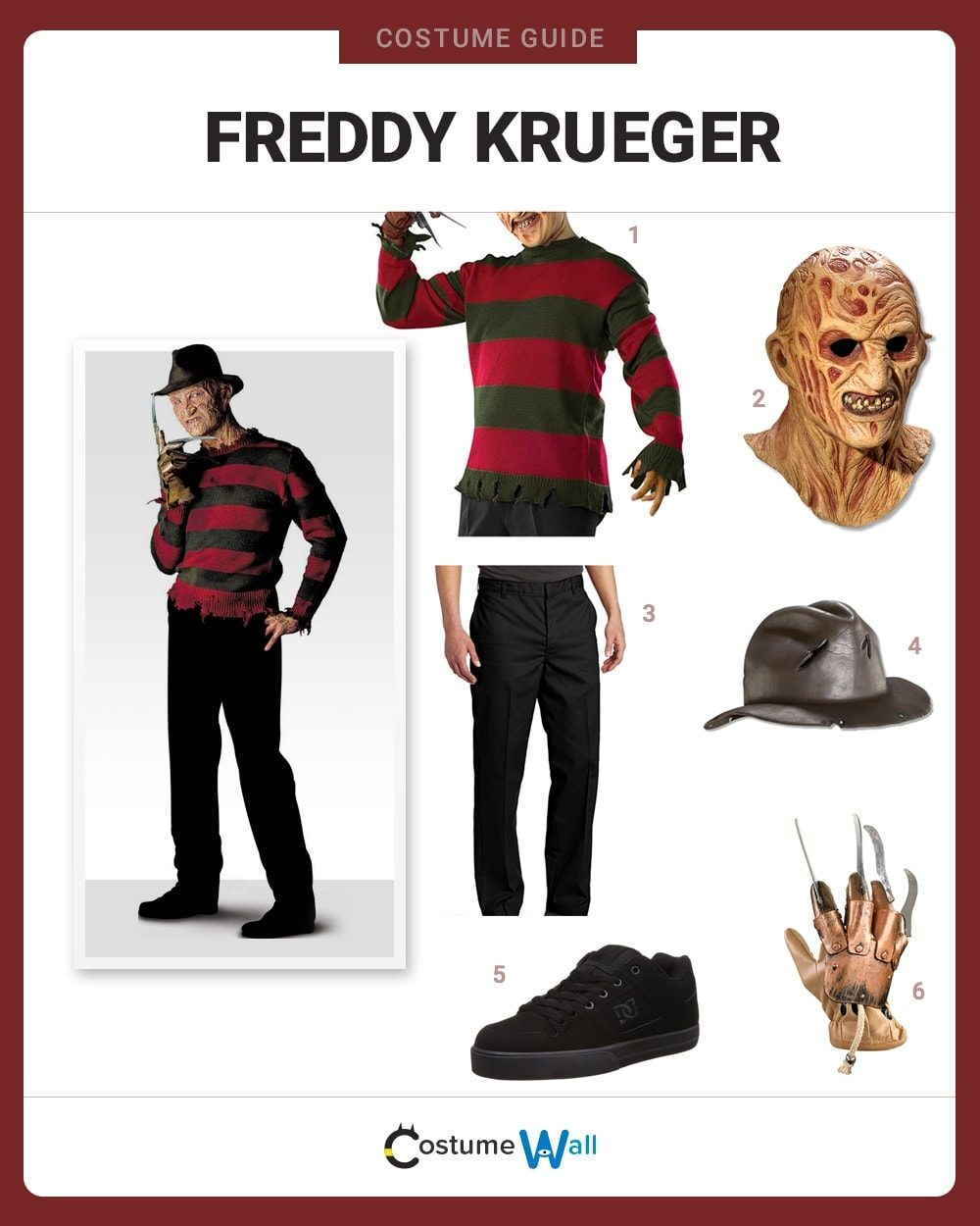 dress like freddy krueger costume | halloween and cosplay guides