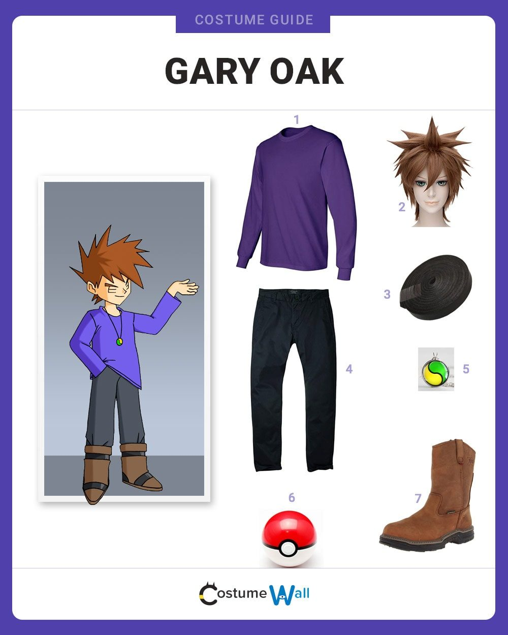 Gary Oak Costume Guide