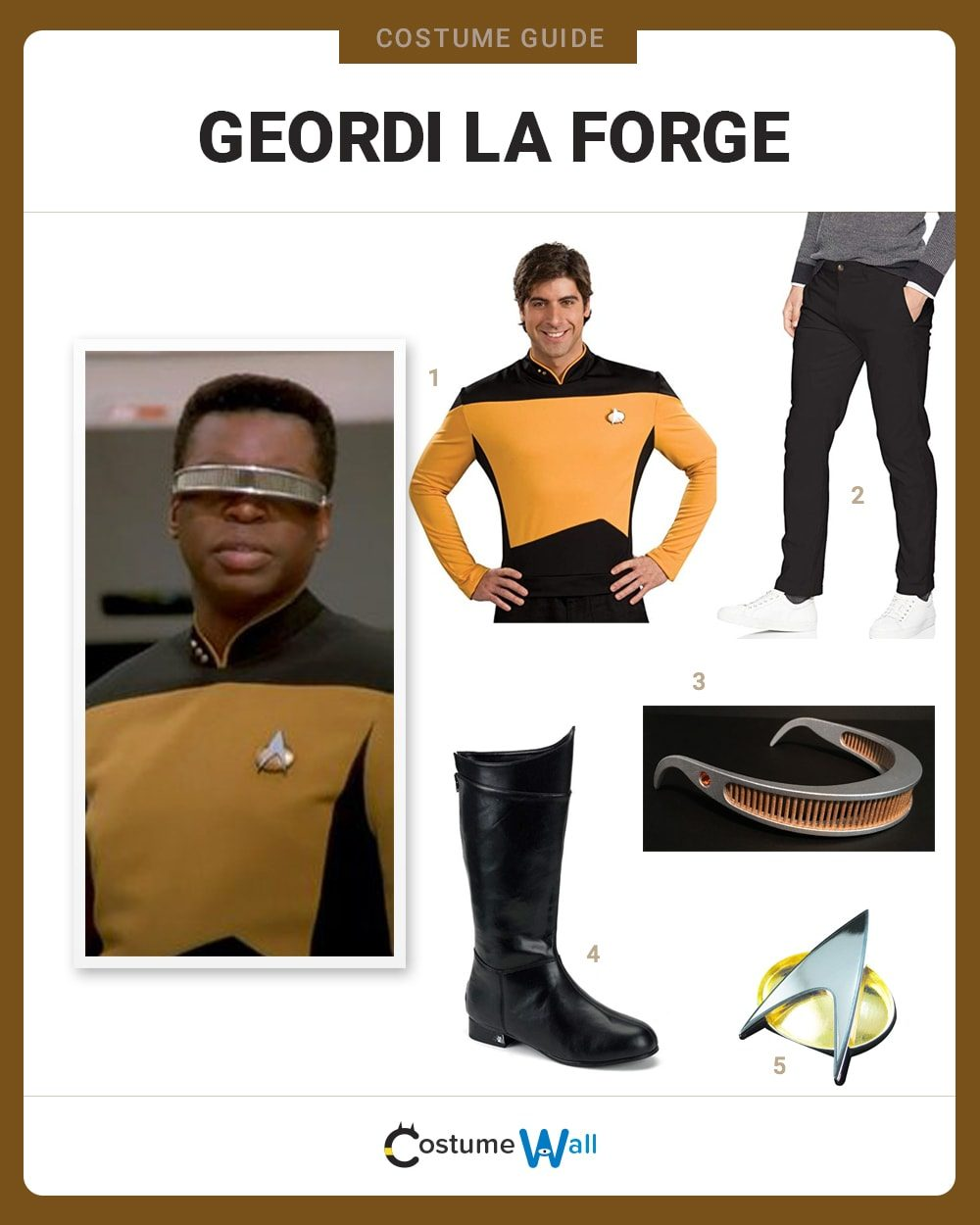 Geordi La Forge Costume Guide