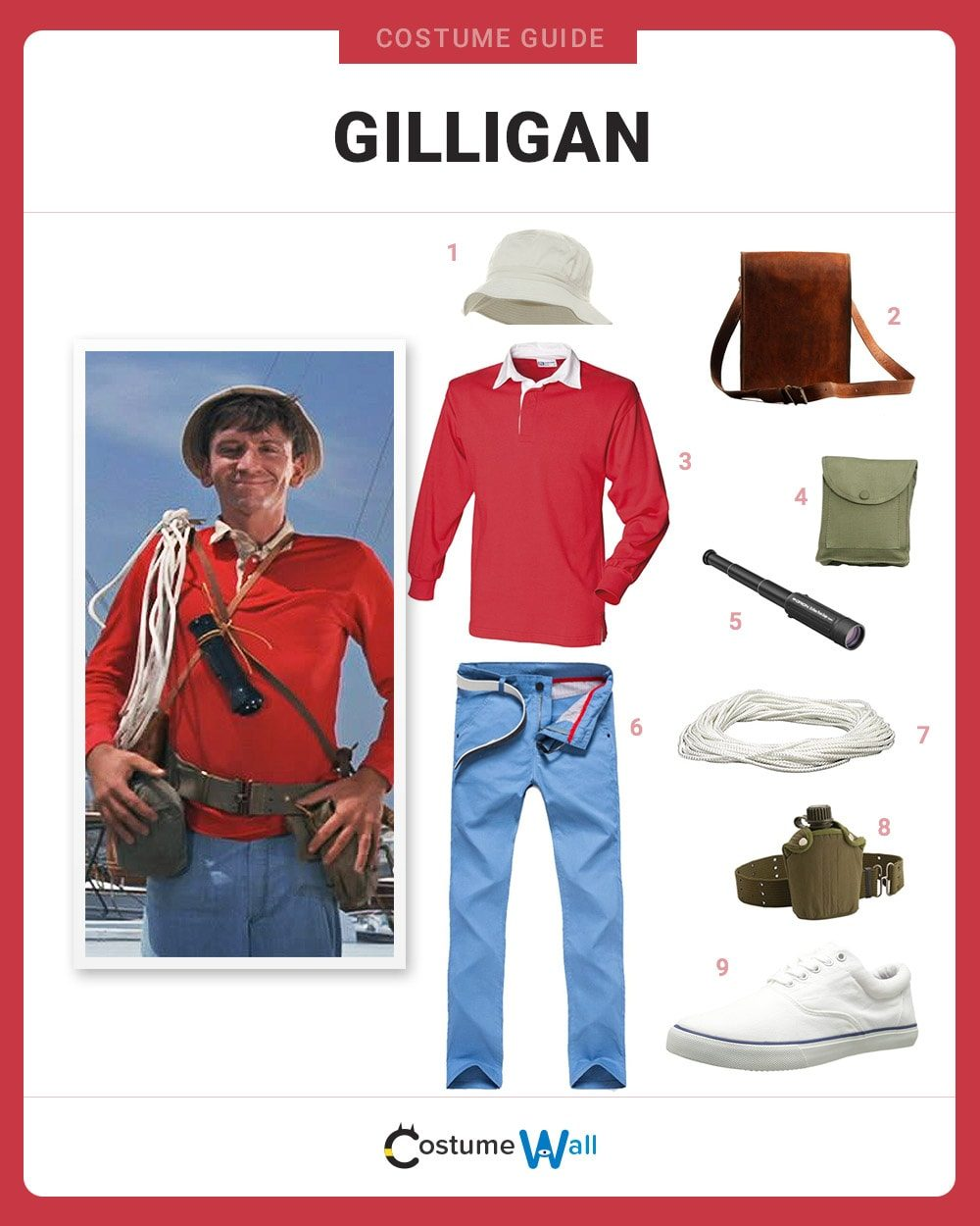 3d8c09ea21947 Dress Like Gilligan Costume