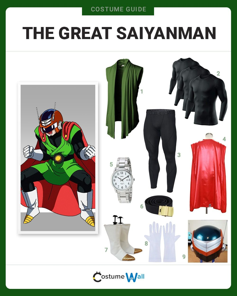 Gohan The Great Saiyanman Costume Guide