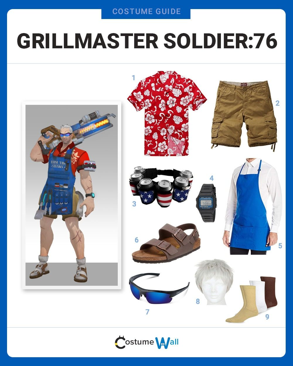 Grillmaster Soldier:76 Costume Guide