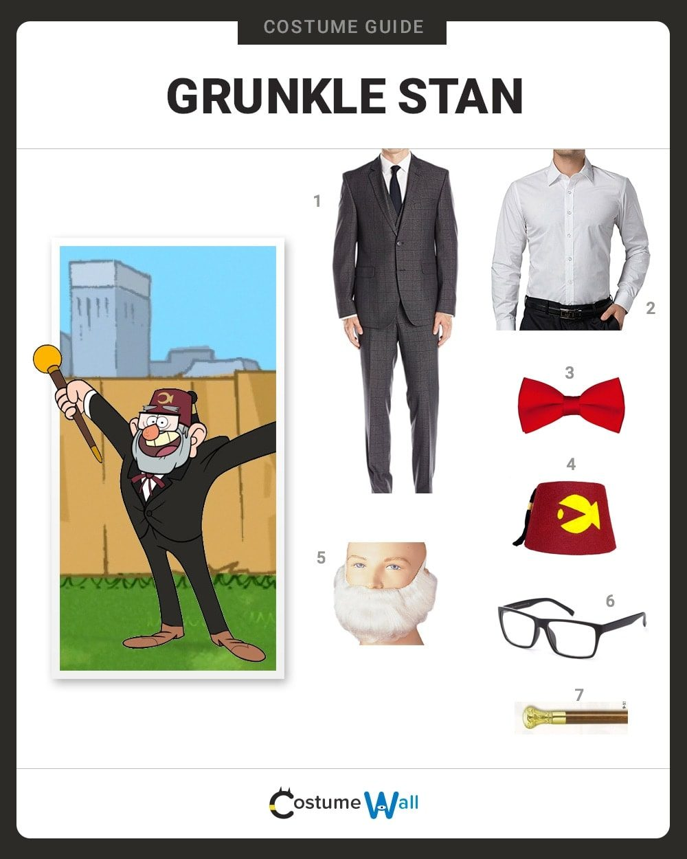 Grunkle Stan Costume Guide