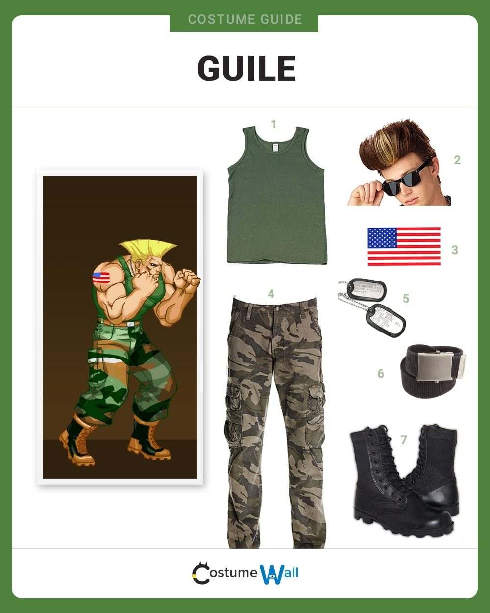 Guile Costume Guide