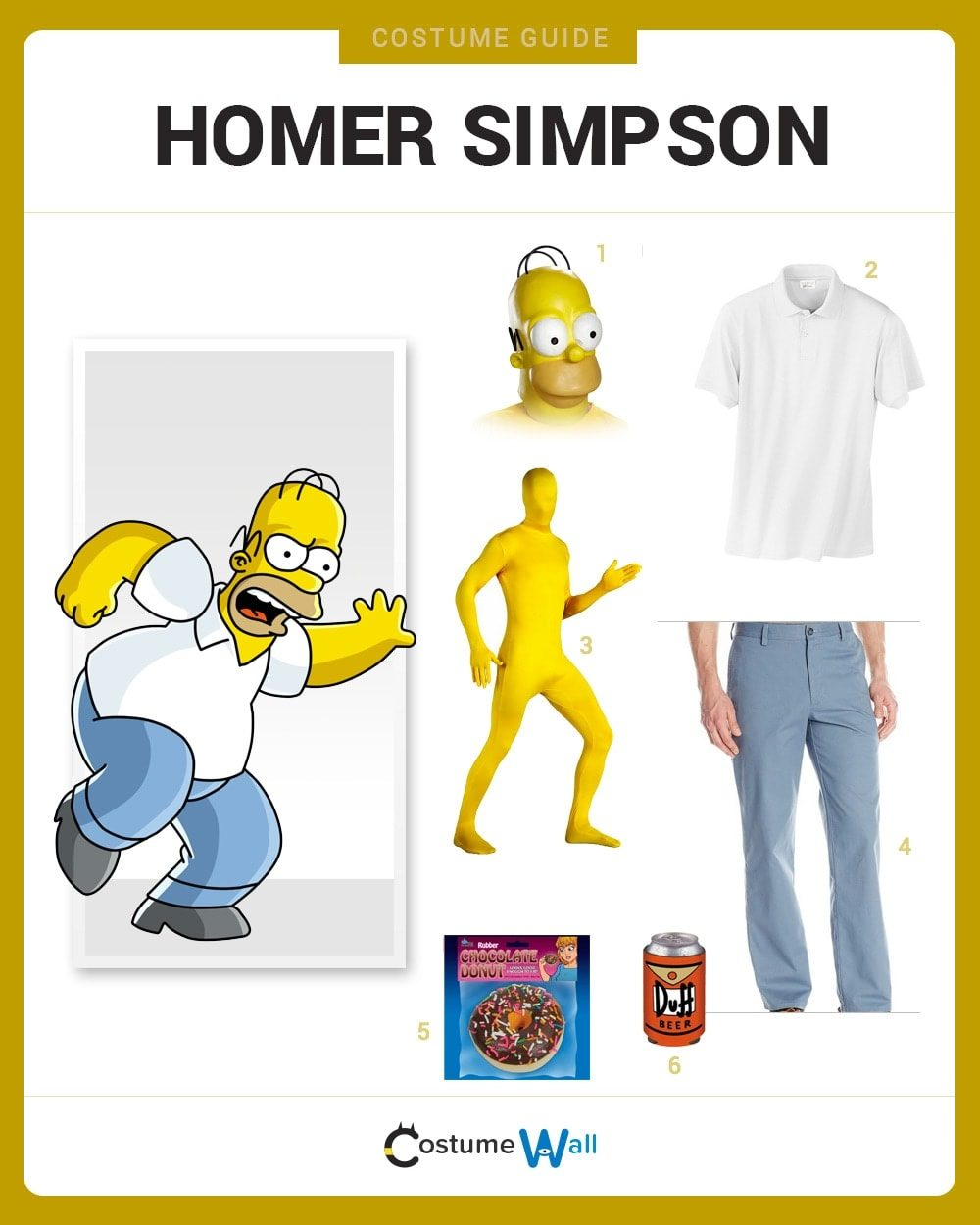 Homer Simpson Costume Guide