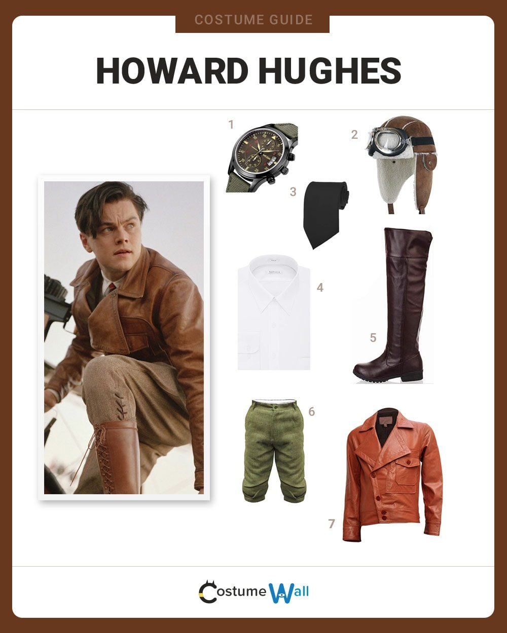 Howard Hughes Costume Guide