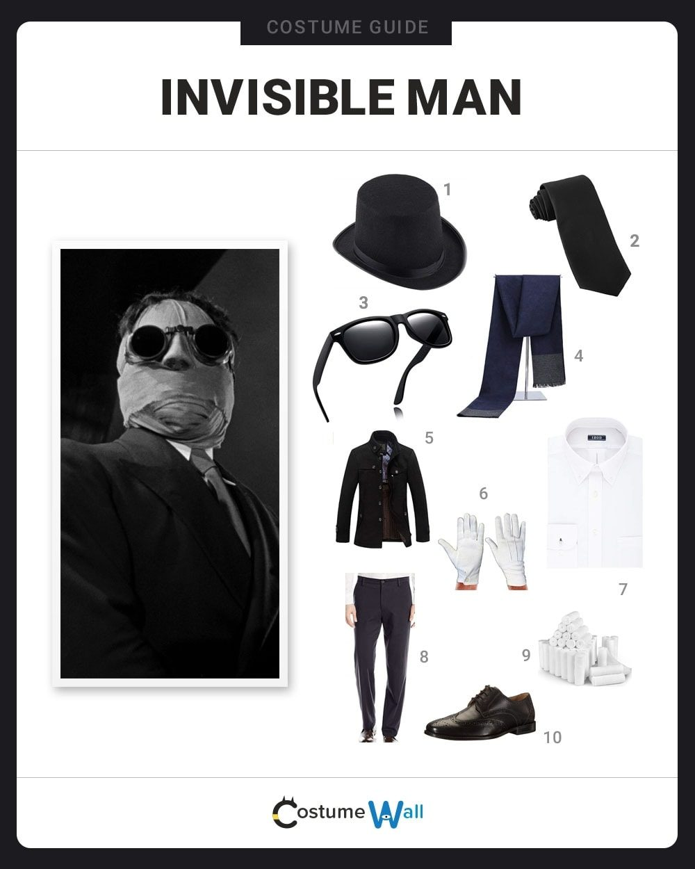 Invisible Man Costume Guide