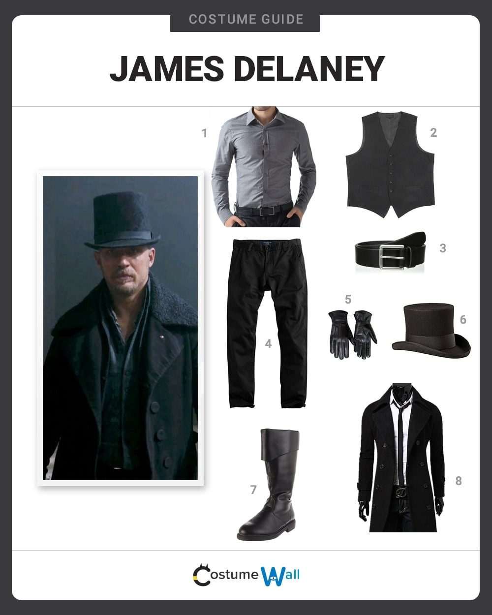 James Delaney Costume Guide