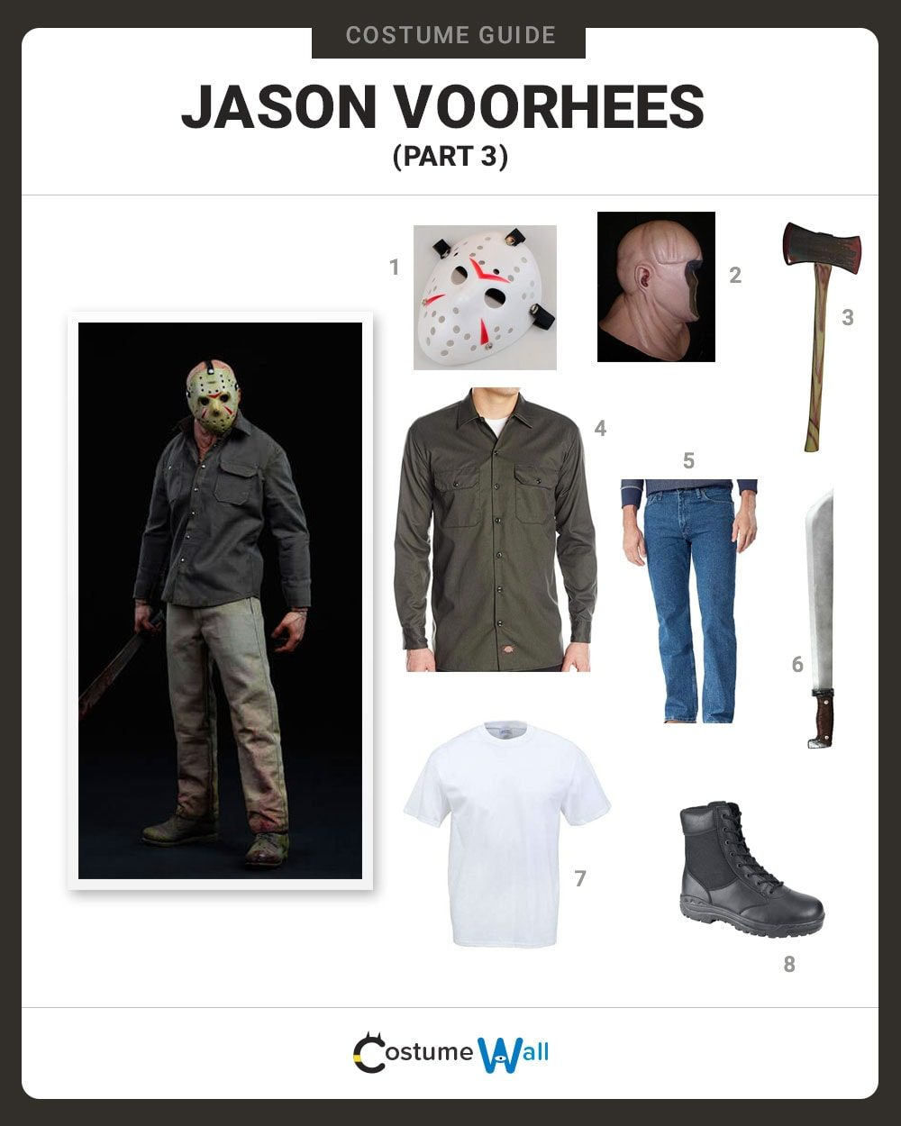Dress Like Jason Voorhees Part 3 Costume Halloween And