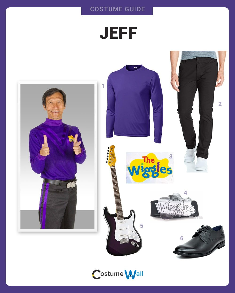 Jeff (The Wiggles) Costume Guide