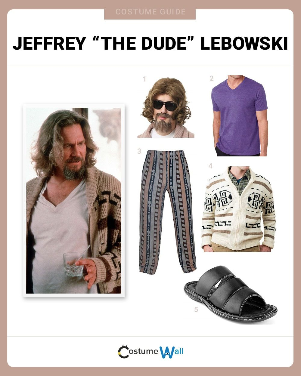 "Jeffrey ""The Dude"" Lebowski Costume Guide"