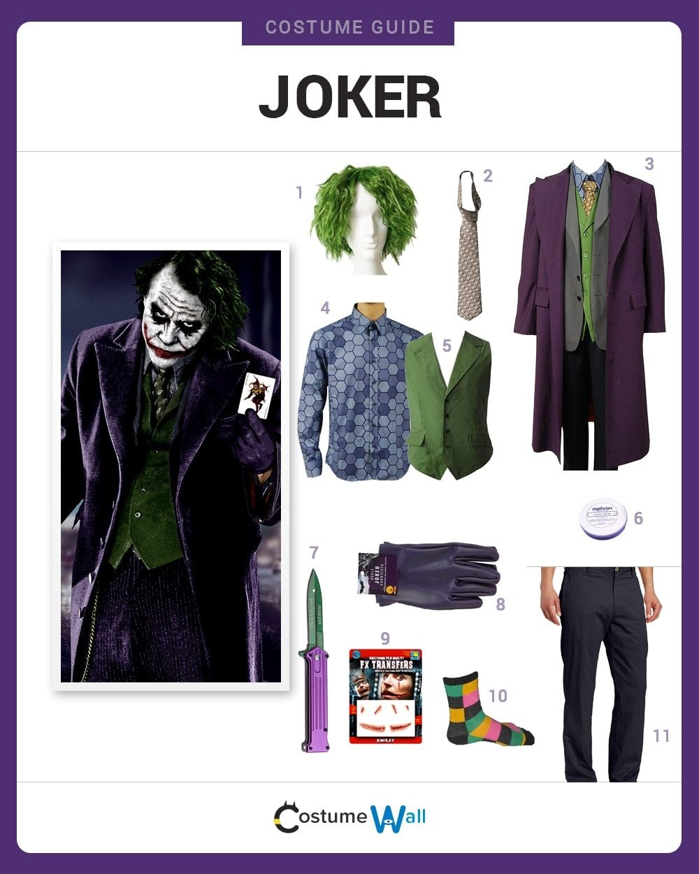 Costume Breakdown  sc 1 st  Costume Wall & Dress Like the Joker Costume | Halloween and Cosplay Guides