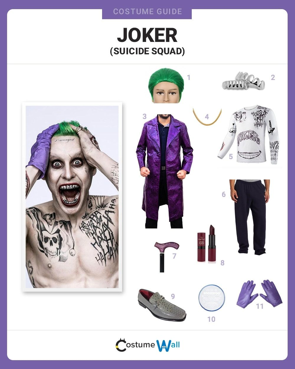 Suicide Squad Joker Halloween Costume.Dress Like Joker Suicide Squad Costume Halloween And Cosplay Guides