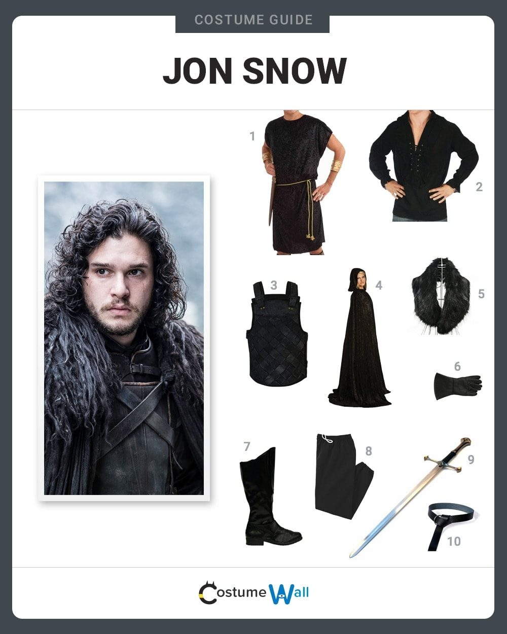 Jon Snow Costume Guide