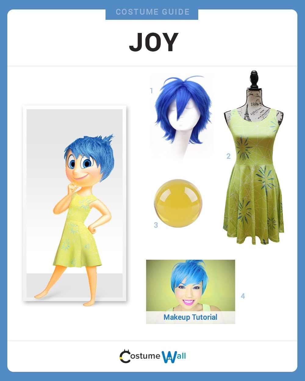 Dress Like Joy Costume Halloween And Cosplay Guides