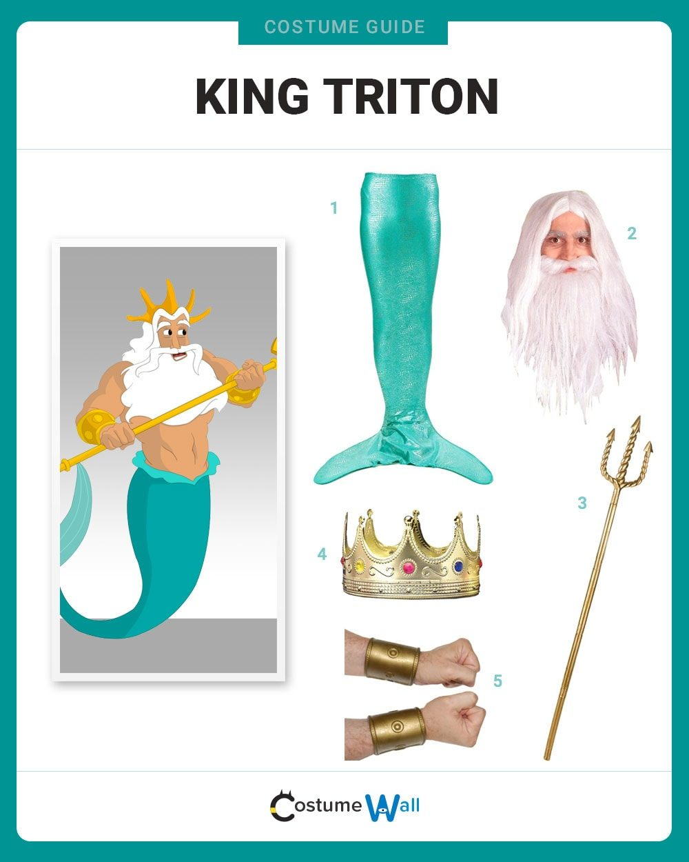 King Triton Costume Guide