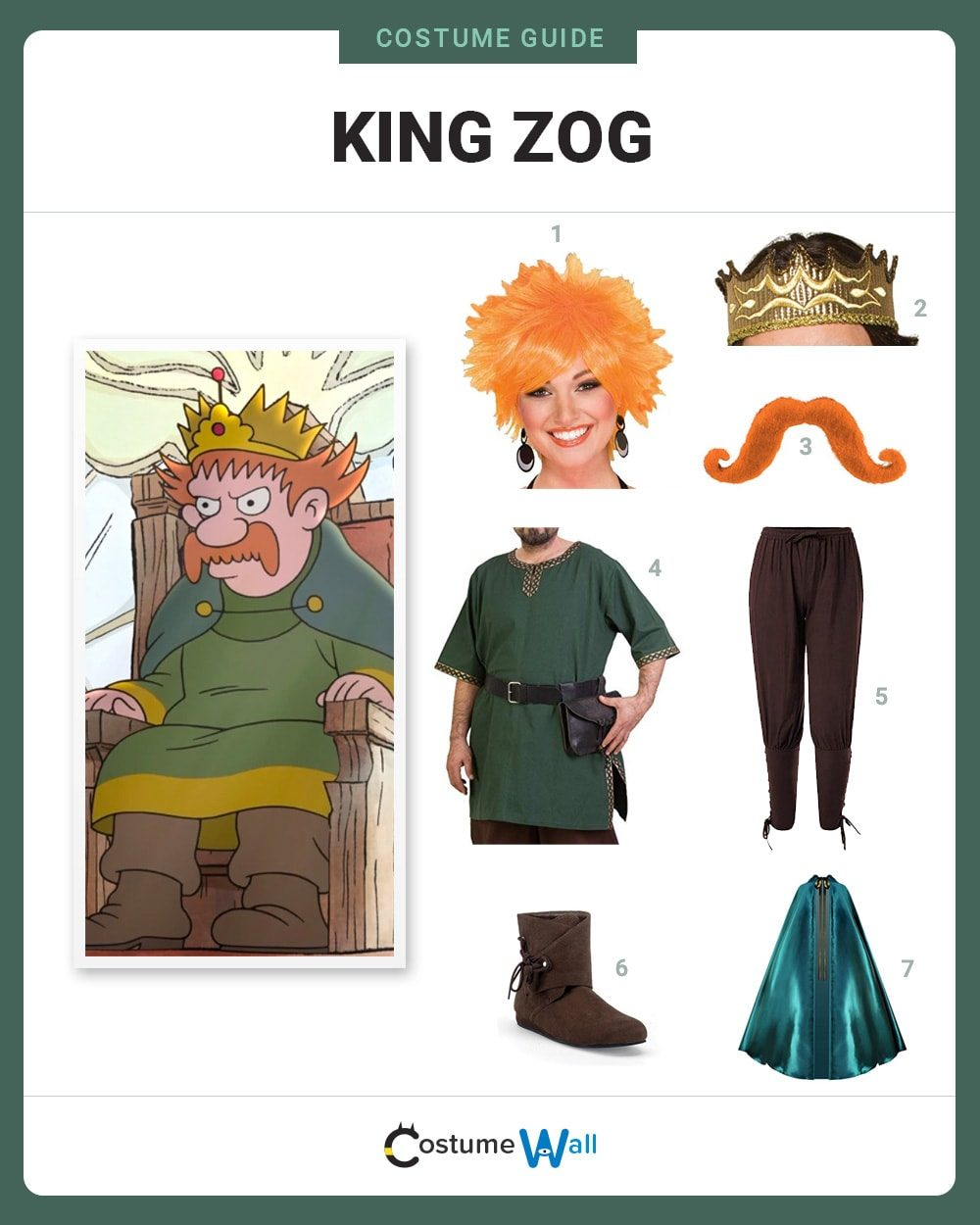 King Zog Costume Guide