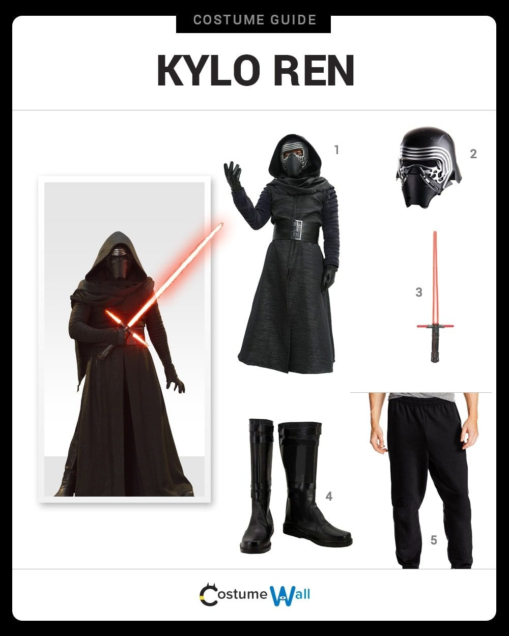 Kylo Ren Costume Guide