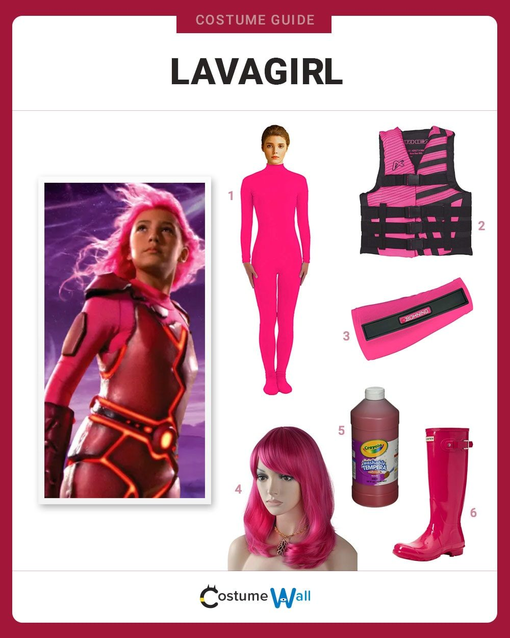 Lavagirl Costume Guide
