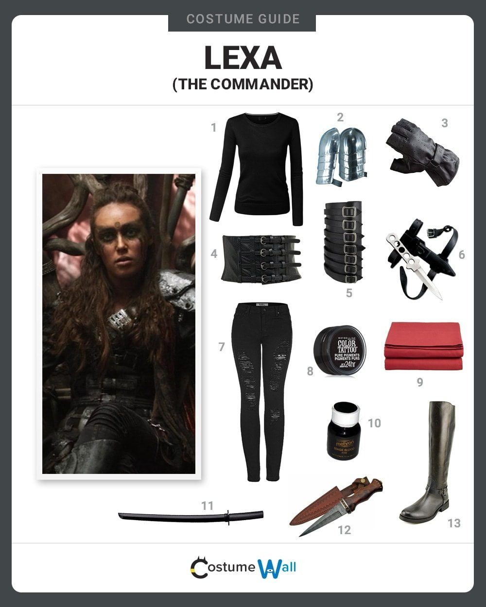 Commander Lexa Costume Guide