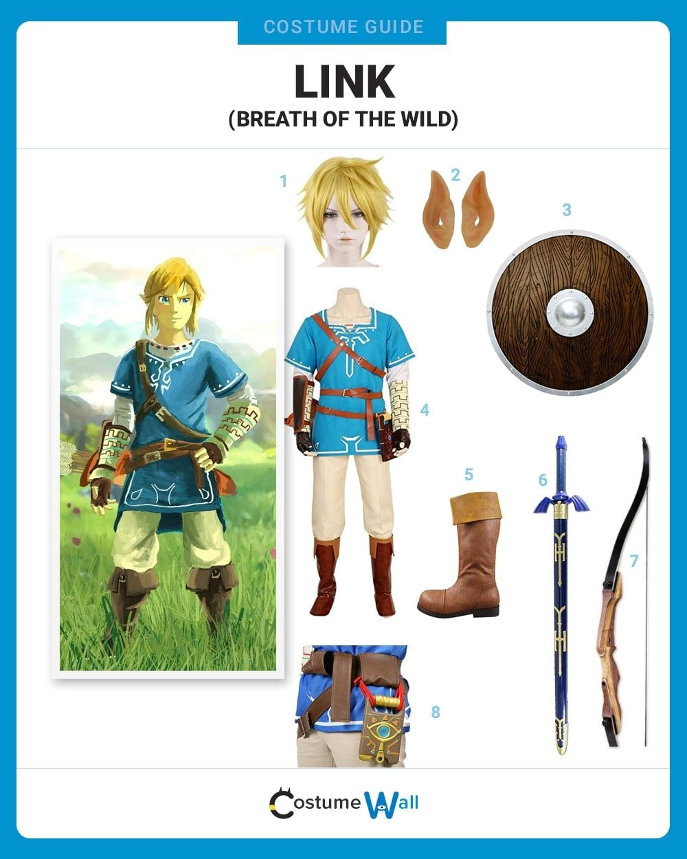 Dress Like Link From Zelda Breath Of The Wild Costume