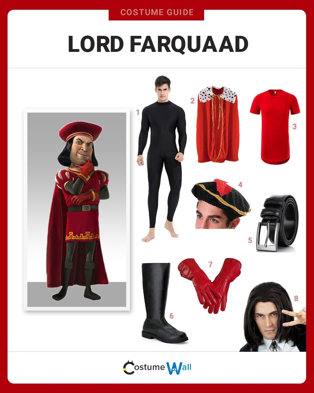 Lord Farquaad Costume Guide