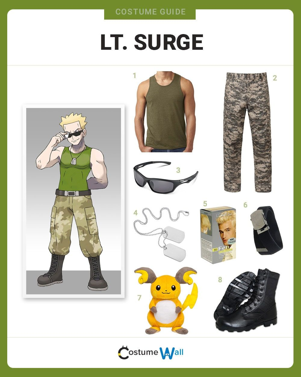 Lt. Surge Costume Guide