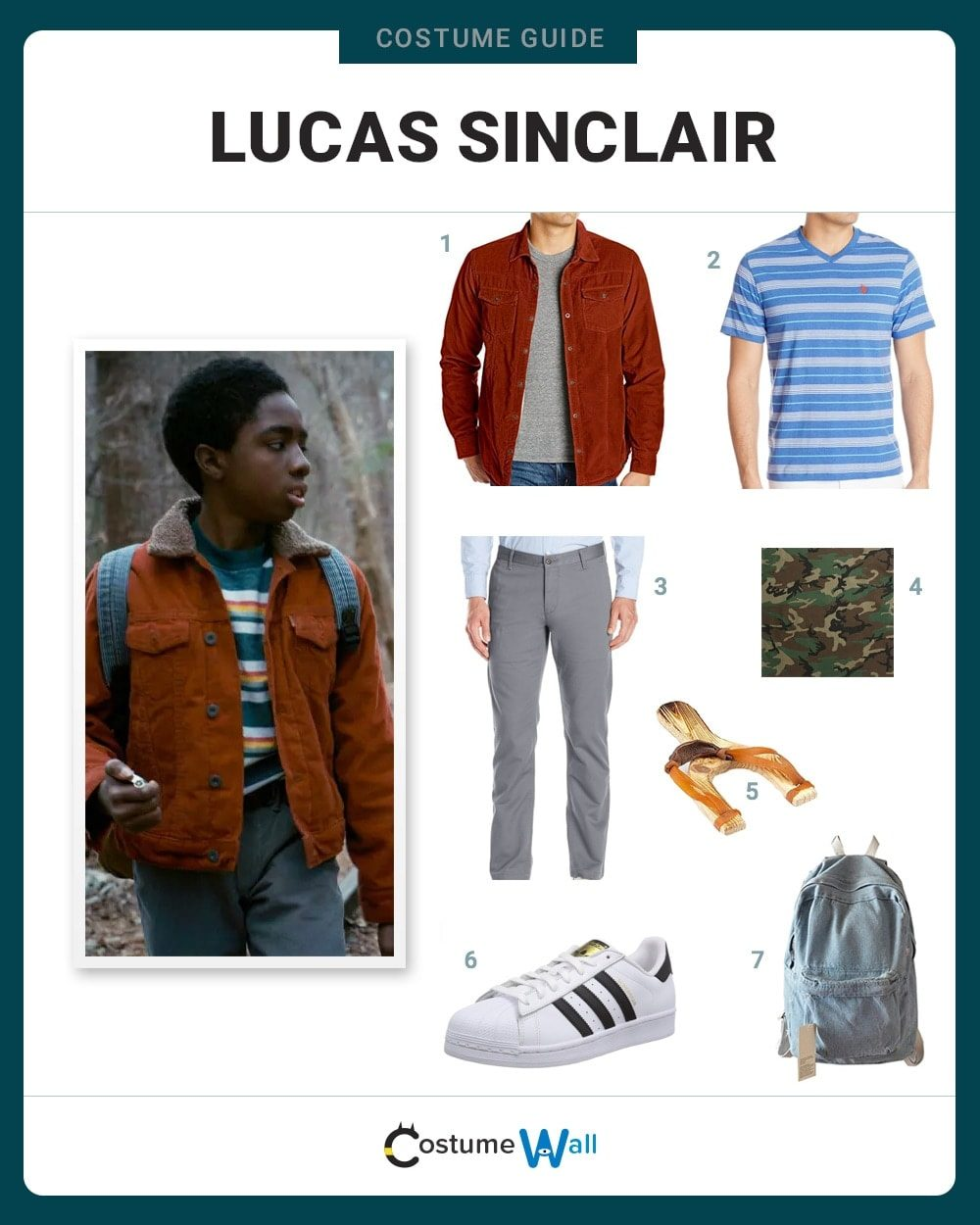 Dress Like Lucas Sinclair Costume Halloween And Cosplay