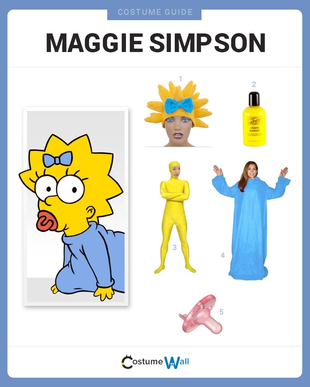 Dress Like Maggie Simpson Costume Halloween And Cosplay
