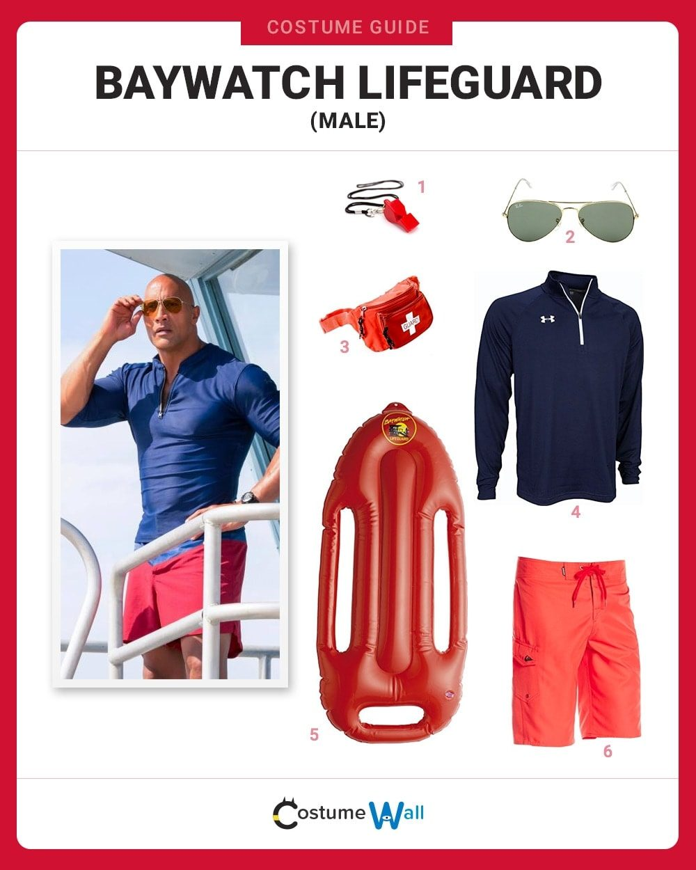 Baywatch Lifeguard (Male) Costume