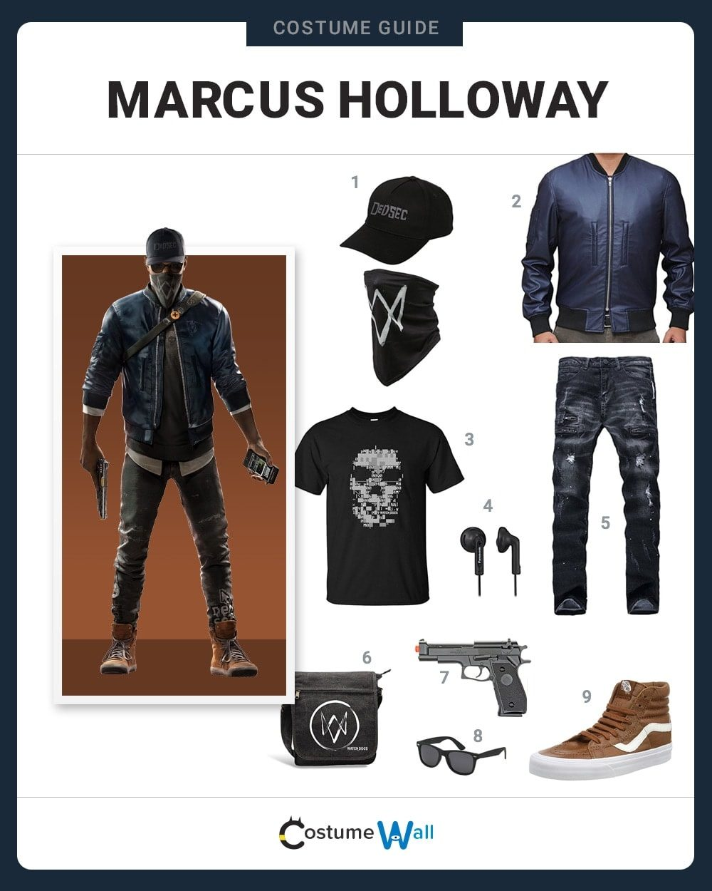 Marcus Holloway Costume Guide