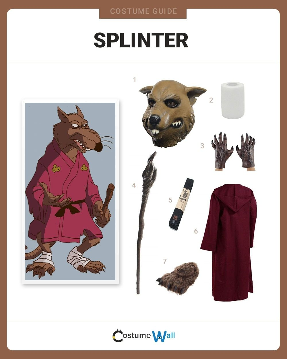 Splinter Costume Guide