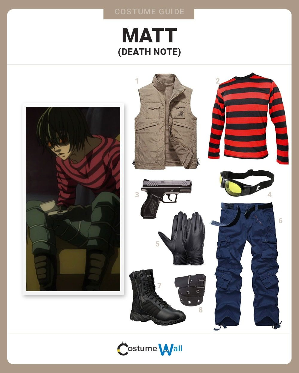 Matt from Death Note Costume Guide