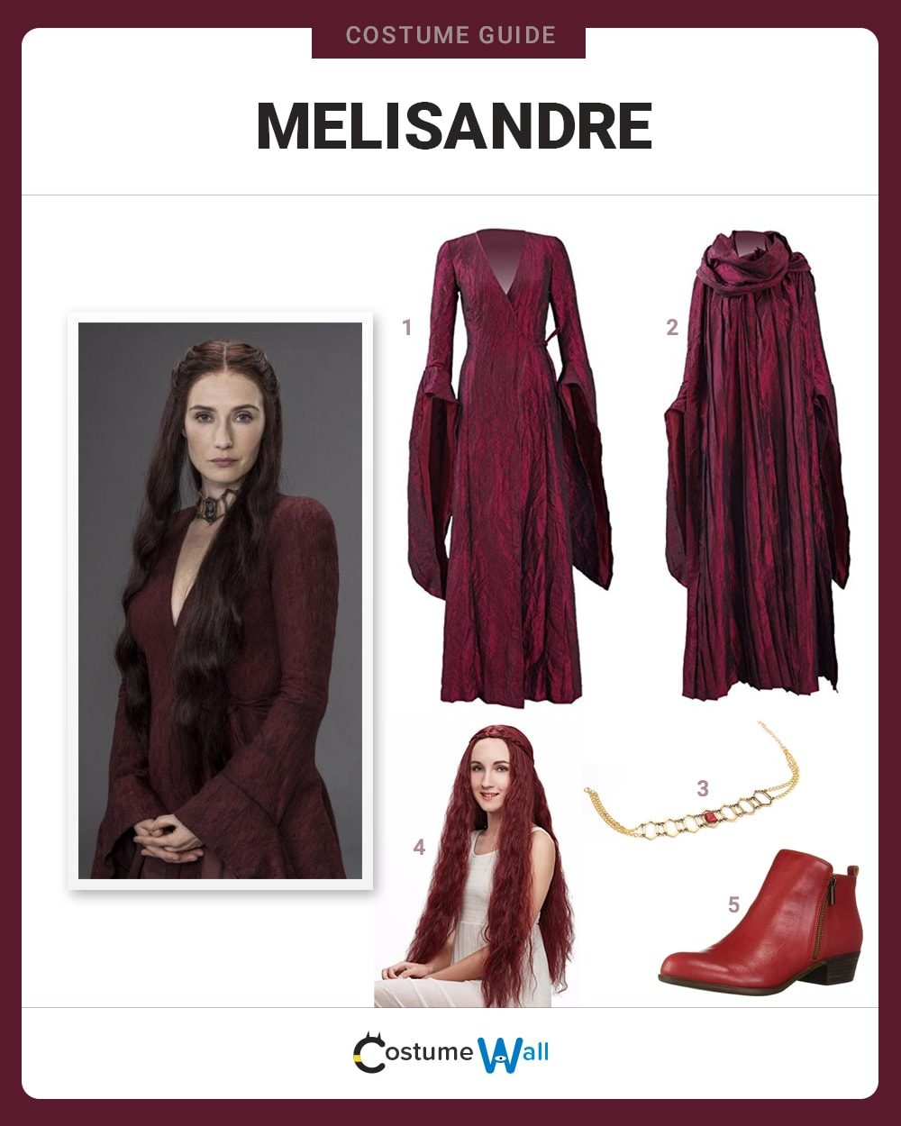 Melisandre Costume Guide
